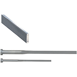 Precision R-Chamfered Rectangular Ejector Pins -High Speed Steel SKH51/P・W Tolerance 0_-0.005/L Dimension Designation Type-