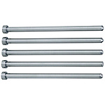 Straight Center Pins With Tip Processed -Die Steel SKD61+Nitriding/Shaft Diameter (D) Selection Type-