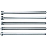 Straight Center Pins With Tip Processed -Die Steel SKD61+Nitriding/Shaft Diameter (P) Designation (0.1mm Increments) Type-