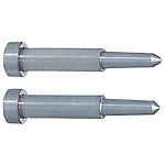 Precision One-Step Core Pins -Shaft Diameter (P) Designation (0.005mm Increments)/Shaft Diameter Tolerance 0_-0.005/Tip A・V Tolerance ±0.005 Type-