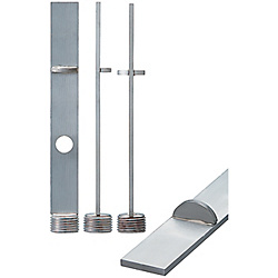 Stainless Steel Baffle Boards With Partition -Tapered Screw Plug Type-