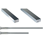 R-Chamfered Rectangular Ejector Pins With Engraving -High Speed Steel SKH51/4mm Head/P・W Tolerance 0_-0.01 Type-
