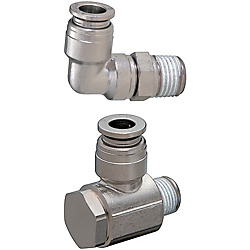 Quick-Fitting Joints For Mold Cooling -Integrated Plugs・Sockets/(Heat-Resistant 99degree Series)/L-Shaped Joints-