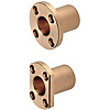 Oil Free Bushings - Bronze, Standard Flanged Housing Units - Compact Flange