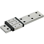 Miniature Linear Guides - Wide Rails - Standard Blocks with Dowel Holes, Light Preload