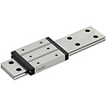 Miniature Linear Guides - Wide Rails - Long Blocks with Dowel Holes, Light Preload