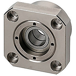Support Units - Fixed Side, Round <Cost Reduction> - Fixed Side Radial Bearing Type (Economical, for Low Speed Applications)