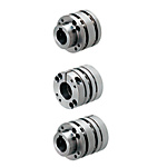 Disc Couplings - High Rigidity (O.D. 65), Keywayed Bore / Clamping - For Servo Motors
