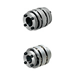 Disc Couplings - High Rigidity (O.D. 65), Keyless Clamping - For Servo Motors
