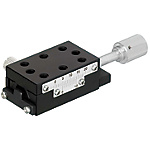 [High Precision] X-Axis Dovetail Slide, Feed Screw / [Simplified Adjustments] X-Axis Rack & Pinion - X-Axis, Compact Carriage, Low Profile (Lead 4.2mm)