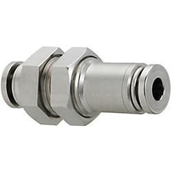 All Stainless Steel One-Touch Couplings - Bulkhead Unions