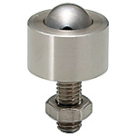 Ball Rollers (For upward facing) - Milled Stainless Steel - Lock Nut / Flange Mounting