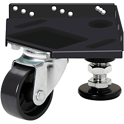 Integrated Casters & Leveling Mounts