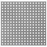 Perforated Metal Sheets - Parallel Round Holes / Slots
