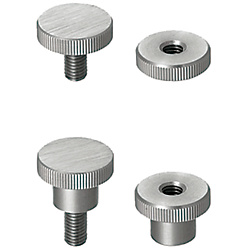 Knurled Knobs/Small Diameter NKBC5-16-16