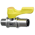 Compact Ball Valves/Brass/PT Threaded/Tube Connection