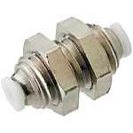 Compact Air Fittings - Tubes, One-Touch Couplings, Speed Controllers - Bulkhead Unions