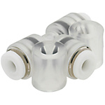 Compact Air Fittings - Tubes, One-Touch Couplings, Speed Controllers - Union Tees