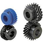 Helical Gear-Straight Bore Type/Straight Bore + Tap/Keyway + Tap/ Pressure Angle 20Deg.