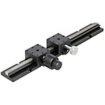 [High Precision] X-Axis Dovetail Slide, Rack & Pinion - X-Axis, Long Stroke (100, 200, 300, 400mm) Block Combination
