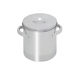 Sanitary Items/Open Lid Kettle with Selectable Spigot Shape