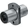 Flanged Linear Bushings - Medium, Center Flanged