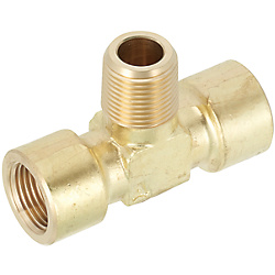 Brass Fittings for Steel Pipe/Tee/Threaded/Tapped