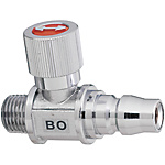 Compact Ball Valves/Brass/Knurled/PT Threaded/Coupler Socket