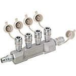 Air Couplers/Manifold/4 Socket Outlets/1 Socket Inlet/1 Plug Inlet