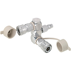 Air Couplers/Manifold/Swivel/2 Sockets/1 Plug