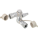 Air Couplers - Manifold, Swivel, 2 Sockets, 1 Plug