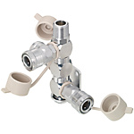 Air Couplers/Manifold/Swivel/3 Sockets/1 Plug
