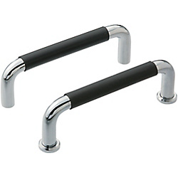 Round Handles With Rubber/Tapped
