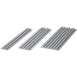Slot Width 6mm/Flat Aluminum Extrusions/With Shoulder