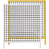 Safety Mesh Fence Units - Standard/ Yellow Painted Extrusion Type