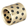 Oil Free Bushings - Copper Alloy Straight, Standard / Thin Wall, I.D. G6 O.D. m6 / Standard I.D. G6 O.D. h6