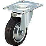 【C-VALUE】キャスタ 中荷重・自在タイプ 車輪材質:ゴム