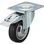 【C-VALUE】キャスタ 中荷重・自在・ストッパ付タイプ 車輪材質:ゴム