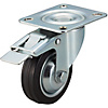 Casters - Medium Load - Wheel Material: Rubber - Swivel with Stopper