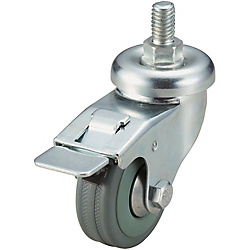Screw-In Casters - Light Load - Wheel Material: Rubber - Swivel with Stopper