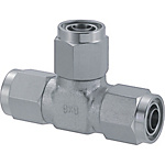 Couplings for Tubes - Nut and Sleeve Integrated Type - Union Tees