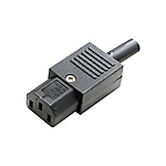 Plugs for AC Power Cords - IEC Standard Straight Plugs, C13 Female (MISUMI)