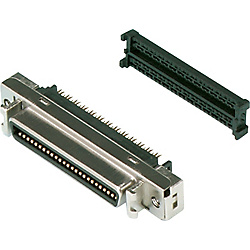 IEEE1284 Half Pitch Press-fit/Panel Mountable Female Connector