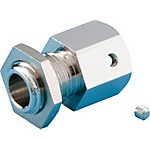 Flexible Fixed Model Tube Connector for ISN (Head for Panel Mounting) (MISUMI)