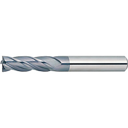 XAL series carbide square end mill, 4-flute / 3D Flute Length (regular) model