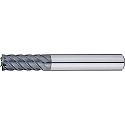 XAC series carbide high-helical end mill, for high-hardness steel machining, multi-blade, 45° torsion / regular model