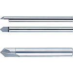 Carbide Straight Blade End Mill for V Grooving and Chamfering, V Groove / Minimum Tip Core Thickness Model