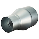 Spiral Duct Fitting Single Drop Pipe (Insertion Size x Insertion Size)