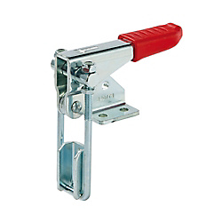 Hook Type Clamp, Perpendicular Flange Base, Latch Series, Double Rod Series (for Light Load)