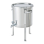 Stainless Steel Airtight Container With Faucet And Flat Steel Legs [CTH-W-FL]